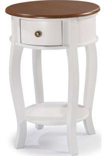 Mesa Apoio Elegance Branco Com Imbuia 50Cm (Larg) - 58856 - Sun House
