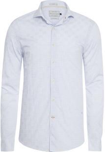 Camisa Masculina Traveller Paris Xadrez Dobby - Off White