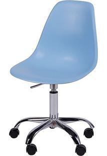 Cadeira Eames Dkr C/ Rodízio Or-1102R – Or Design - Azul Claro