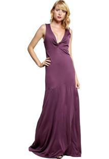 Vestido Para Noite Energia Fashion Liso Roxo