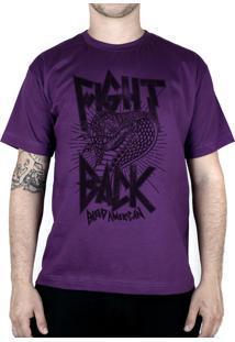 Camiseta Bleed American Fight Back Roxo