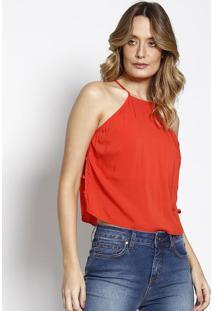 Blusa Lisa Com Tiras- Vermelha- Sommersommer