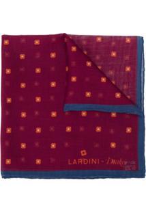 Lardini Gravata Borobleta Drake'S Com Estampa Floral - Vermelho