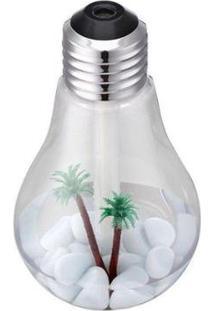 Luminária Lâmpada Difusor Umidificador Ambiente Ar Luz Led Usb - Unissex-Branco
