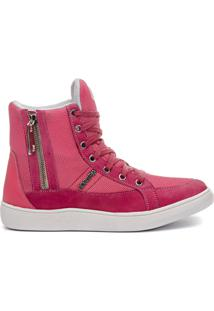Tênis Cano Alto Feminino Rock Fit No Doubt Rosa