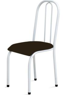 Cadeira Marcheli Baixa 0.104 Anatômica Branco/Tabaco