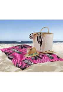 Toalha De Praia / Banho Tropical Flamingo
