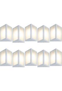 Arandela Triangular Branco Kit Com 10 Casah - Branco - Dafiti