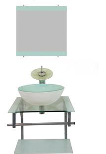 Gabinete De Vidro 45Cm Para Banheiro Polônia Branco Ekasa