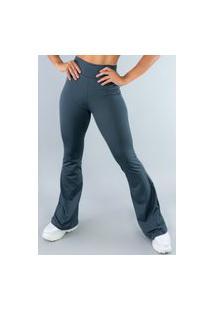 Calça Feminina Mvb Modas Flare Pantalona Suplex Cinza