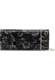 Jimmy Choo Clutch Sweetie Com Brilho - Preto