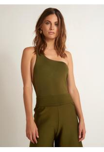 Body Bobô Teca Tricot Verde Feminino (Verde Escuro, M)