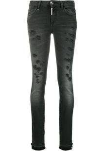 7182a33bf R$ 3816,00. Farfetch Philipp Plein Calça Jeans Slim - Preto