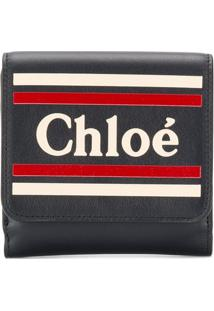 Chloé Carteira Com Logo - Azul