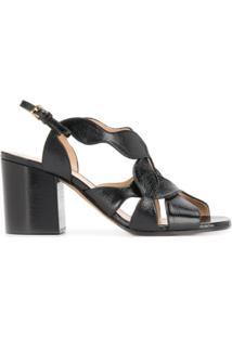 Chloé Sandália Com Tiras Cruzadas - Preto