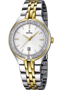 880c9d4dafd ... Relógio Festina Feminino Aço Dourado E Prata - F16868 1