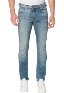 Calça Jeans Five Pocktes Slim Ckj 026 Slim - Azul Médio - 42