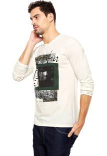 Camiseta Malwee Gola V Bege