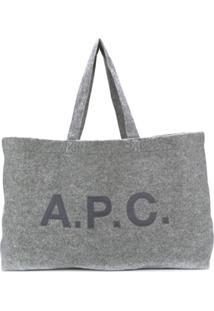 A.P.C. Bolsa Tote Oversized - Cinza