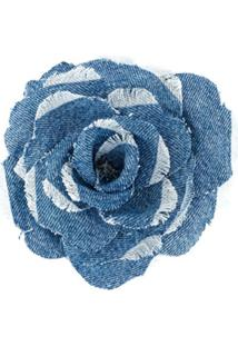 Philosophy Di Lorenzo Serafini Denim Floral Brooch - Azul