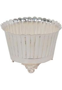 Vaso Decorativo Banho De Prata Buhler