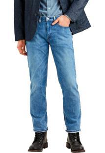 Calça Jeans Levis Masculino 514 Straight 4 Way Stretch Média Azul