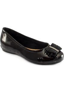 Sapatilha Com Laço Numeração Especial Sapato Show 5471