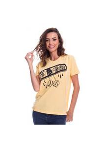 Camiseta Jazz Brasil Mirror Amarela