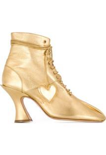 Lanvin Bota Antoinette - Dourado