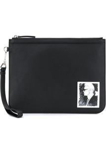 Karl Lagerfeld Karl Legend Clutch - Preto