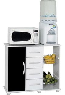 Gabinete De Cozinha Camila Com Fruteira 1 Pt 4 Gv Branco E Preto