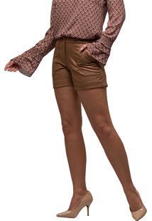 Short Suede Mx Fashion Athena Caramelo