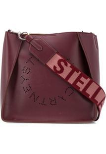 Stella Mccartney Perforated Logo Shoulder Bag - Vermelho