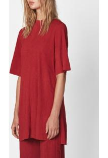 Blusa Feminina Silk-E Strech-Rouge - M