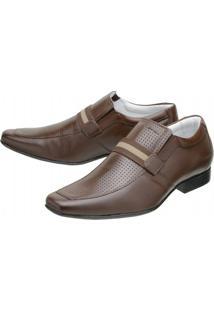 Sapato Social Mafisa Capuccino - Masculino-Marrom