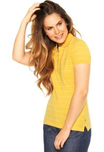 Camisa Polo Nautica Listrada Amarela/Branca