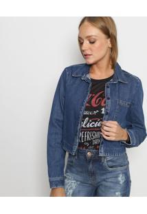 Jaqueta Jeans Com Tag - Azul - Coca-Colacoca-Cola