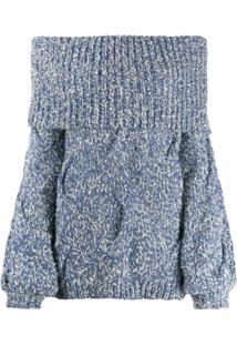 Snobby Sheep Suéter Ombro A Ombro - Azul
