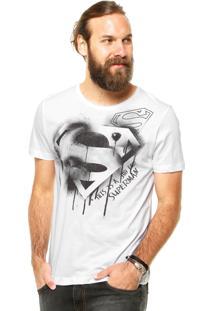 Camiseta Fashion Comics Estampada Branca