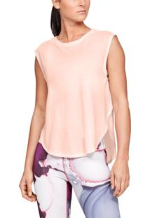 Camiseta Under Armour Camiseta Under Armour Breathe Dolman Feminina Rosa - Kanui