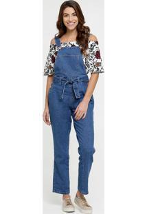 Macacão Feminino Jeans Biotipo