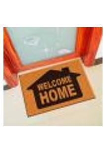 Capacho De Vinil Welcome Home Amarelo Único