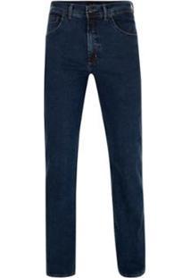 Calça Jeans Pierre Cardin Tradicional Índigo Premium - Masculino-Marinho