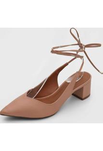 Scarpin Dafiti Shoes Amarraã§Ã£O - Feminino - Sintã©Tico - Dafiti
