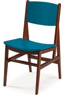 Cadeira Dumon Cor Cacau Com Azul - 30783 - Sun House