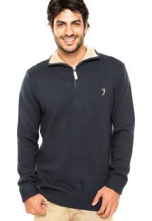 Suéter Aleatory Logo Azul