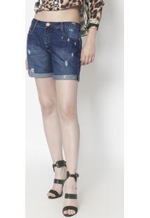Bermuda Jeans Slim Comfort Low- Azul- Lança Perfumelança Perfume