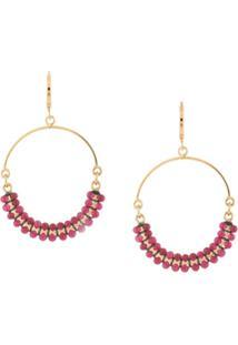 Isabel Marant Boucle Hoop Earrings - Vermelho