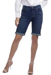 Bermuda Jeans Levis Update Feminina - Feminino-Preto