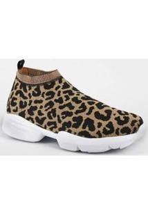 Tênis Feminino Chunky Sneaker Animal Print Vizzano